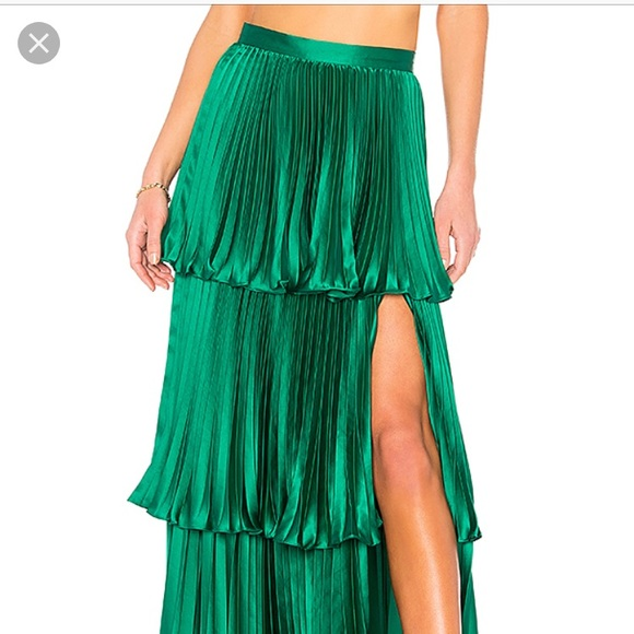 exquisite design find workmanship big collection Amur Eve Skirt in kelly green NEVER BEEN WORN NWT